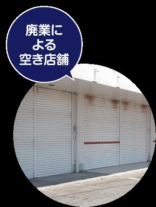 廃業による空き店舗